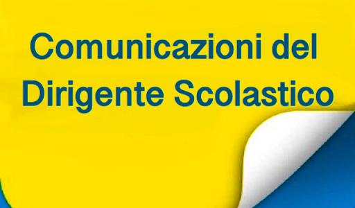 Comunicazioni del Dirigente Scolastico ai Genitori